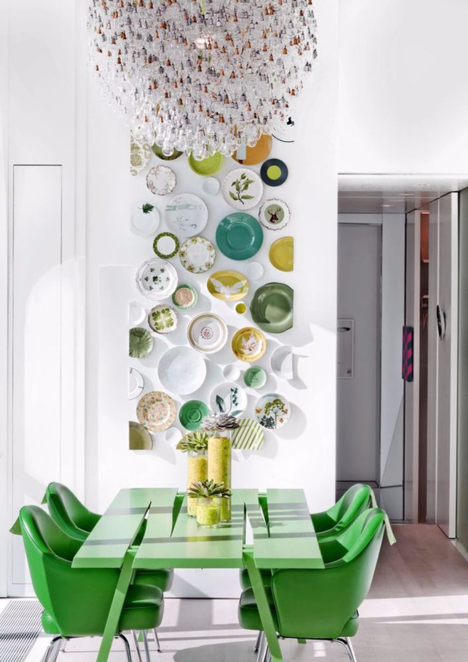 COLORED TABLES: GREENERY  design trends Dining Table Design Trends For This Fall/Winter Dining Table Design Trends For This FallWinter 9