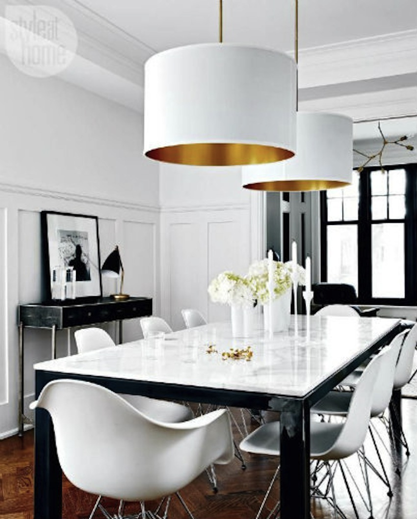 Top 50 modern dining tables to inspire you for Pictures of decorated dining room tables