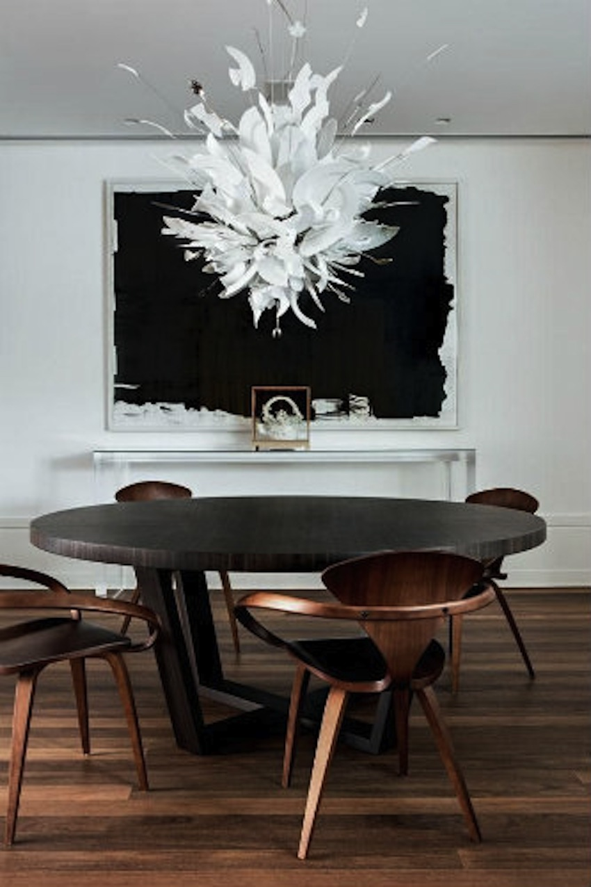 Top 50 modern dining tables to inspire you - Luminaire table a manger ...