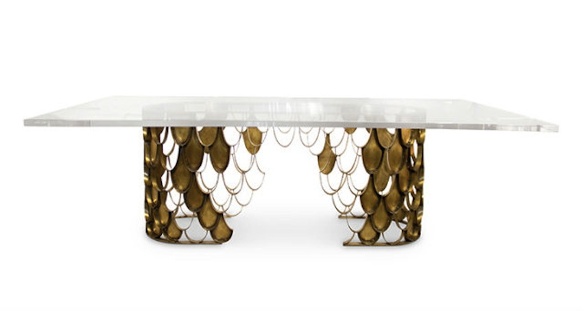 Modern-Dining-Room-Tables-Ideas-59-Koi-II-acrylic-brass-dining-table