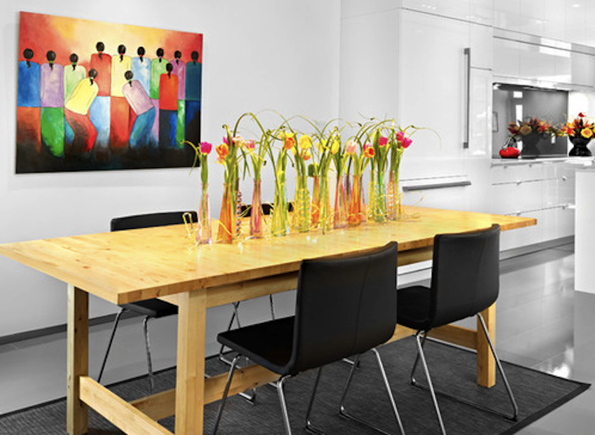 Dining room table centerpieces modern best free home for Contemporary table centerpieces
