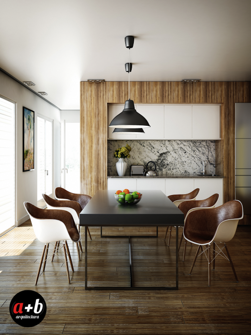 10 modern dining rooms for inspiration for Contemporary dining room chairs