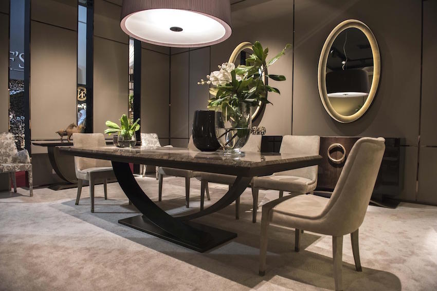 13 modern dining tables from top luxury furniture brands for Contemporary dining furniture