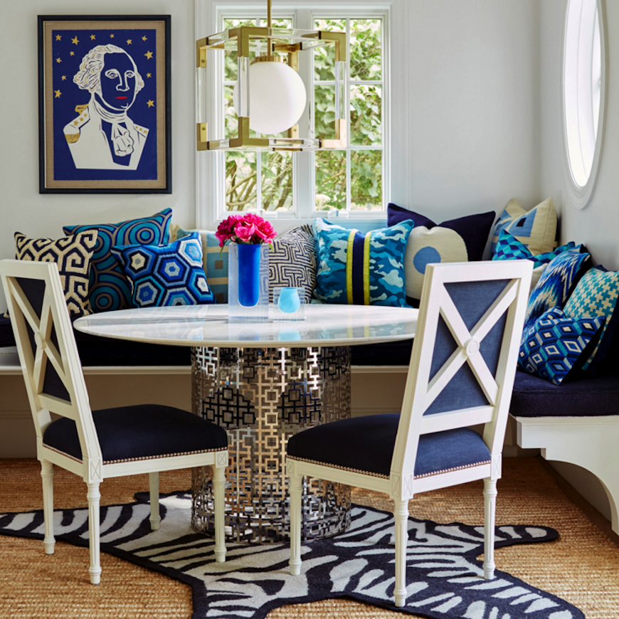 7 Modern Dining Tables by Jonathan Adler. Discover the season's newest designs and inspirations. Visit us at www.moderndiningtables.net #diningtables #homedecorideas #diningroomideas