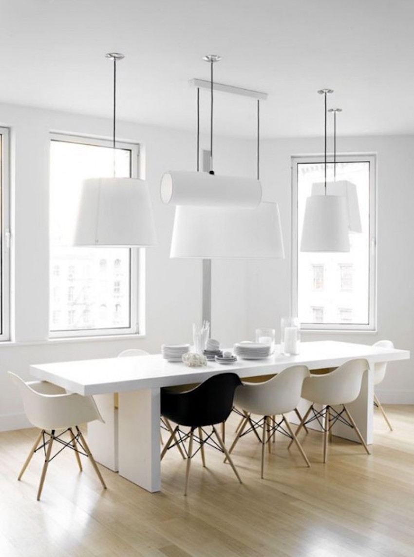 25 timeless minimalist dining rooms with modern dining tables for Modern dining suites