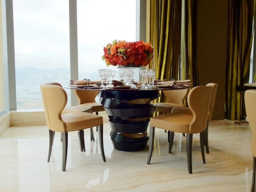 Black Dining Tables 10 Gorgeous Black Dining Tables For Your Modern Dining  Room Top 10 Modern. The Two Tone Metal Ribbon Of The Intuition ... Nice Design