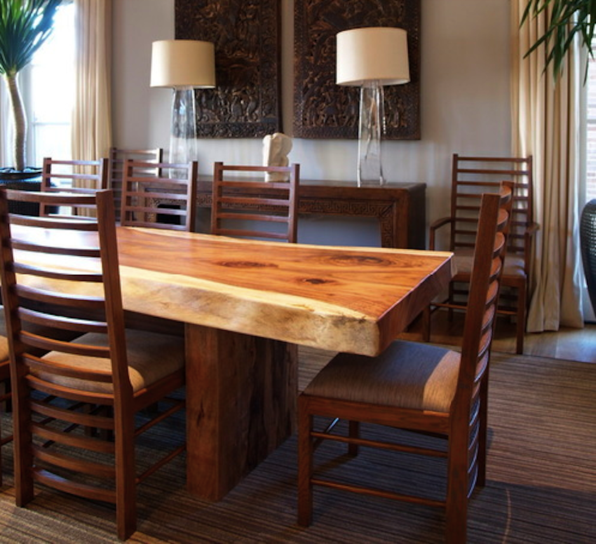 10 wooden dining tables that make you want a makeover for Wood modern dining table