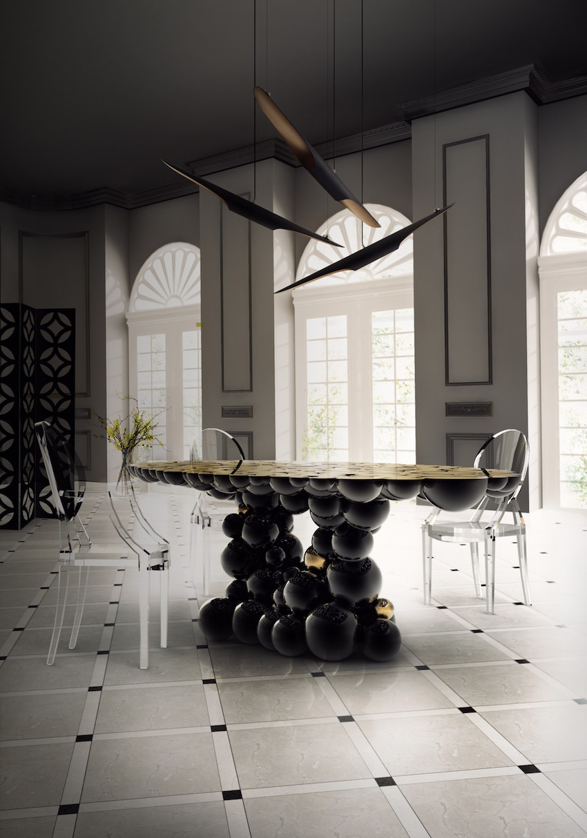 10 Gorgeous Black Dining Tables for Your Modern Dining Room. Discover the season's newest designs and inspirations. Visit us at www.moderndiningtables.net #diningtables #homedecorideas #diningroomideas black dining tables 10 Gorgeous Black Dining Tables for Your Modern Dining Room 10 Gorgeous Black Dining Tables for Your Modern Dining Room 1