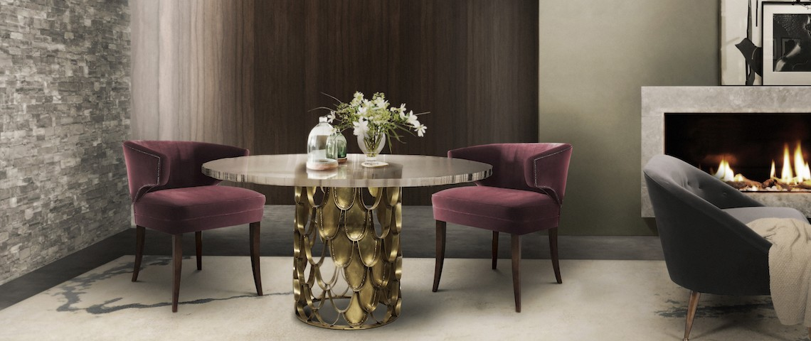 10 Marvelous Dining Room Sets with Upholstered Chairs. Discover the season's newest designs and inspirations. Visit us at www.moderndiningtables.net #diningtables #homedecorideas #diningroomideas