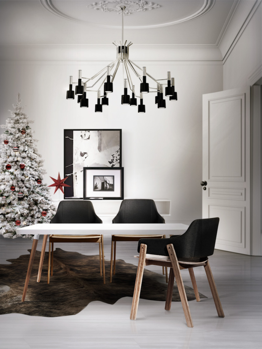10 modern black and white dining room sets that will - Herbstdekoration 2018 ...