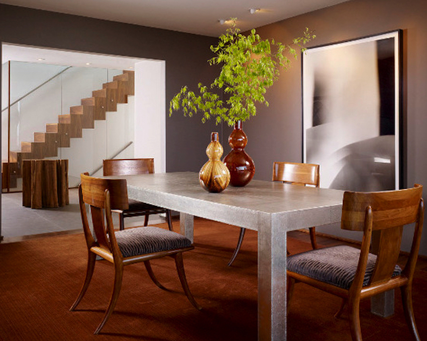 10 modern dining room ideas with a metal dining table for Dining room ideas modern