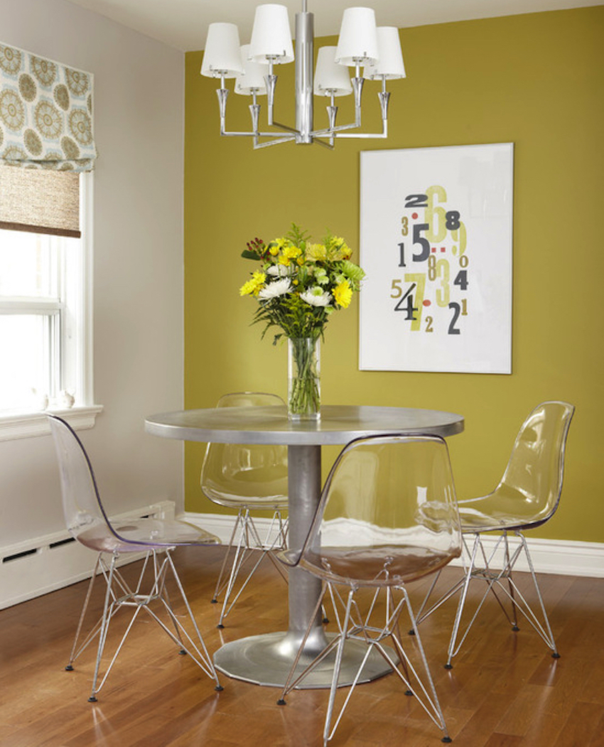 10 modern dining room ideas with a metal dining table for Contemporary dining room table
