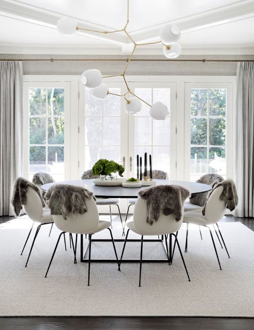 10 modern white dining room sets that will delight you for Dining room ideas white