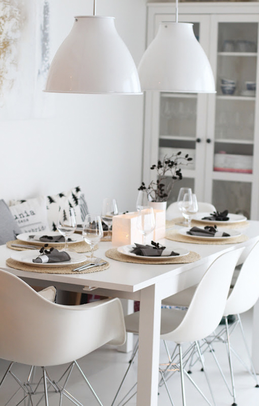 10 modern white dining room sets that will delight you for Modern dinning room table