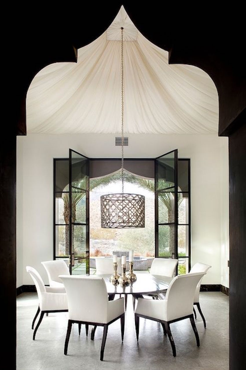 10 modern white dining room sets that will delight you for Dining table interior design