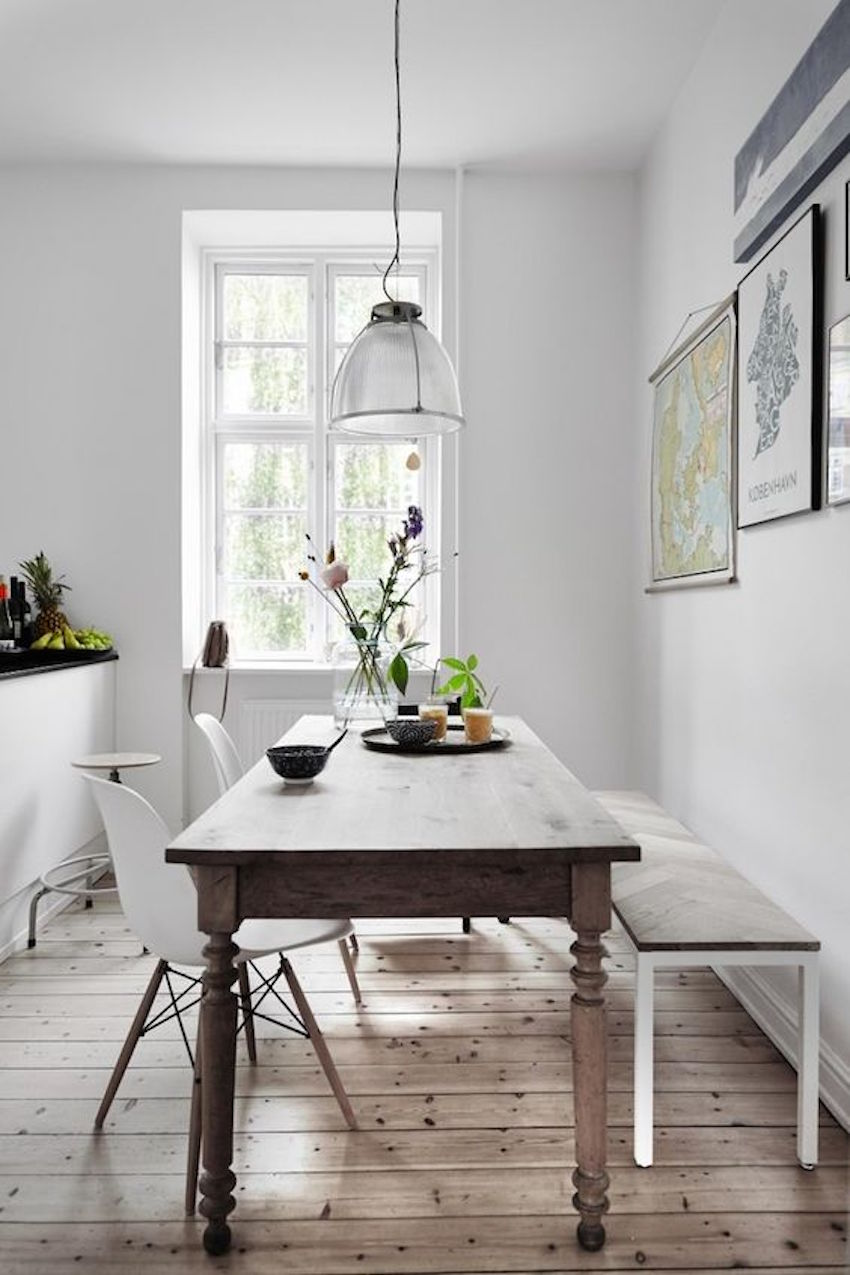 10 narrow dining tables for a small dining room for Dining room ideas eames