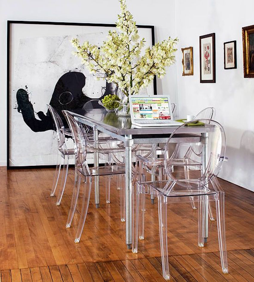 10 narrow dining tables for a small dining room for Big dining table in small space