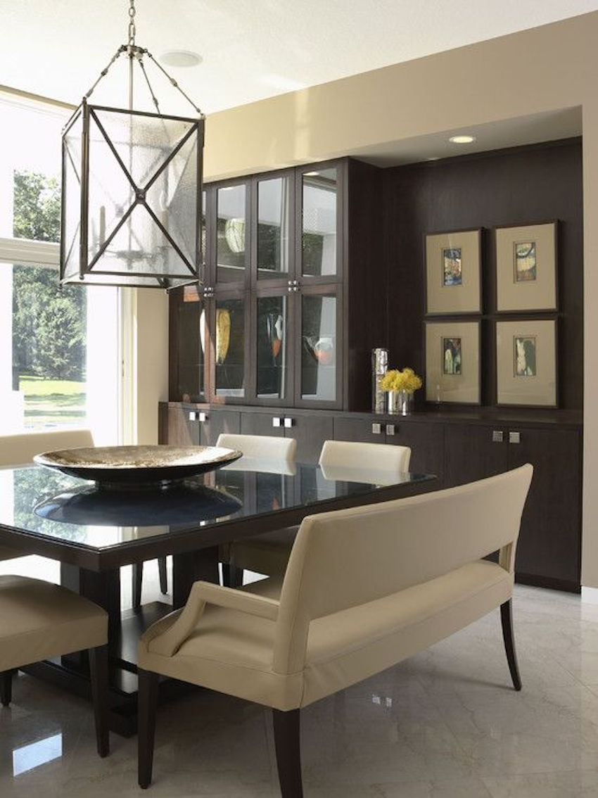10 superb square dining table ideas for a contemporary dining room Breakfast table with bench