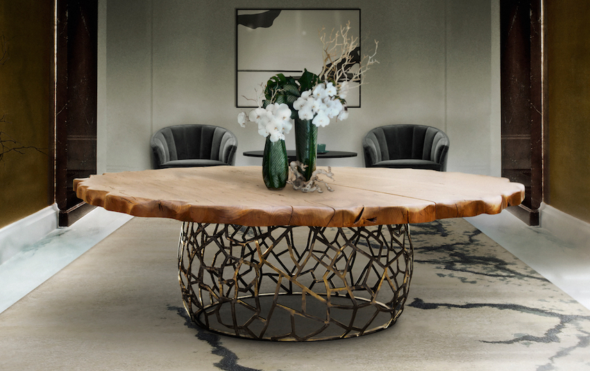 10 unique wooden dining tables that will leave you astonished for Unique wood dining room tables