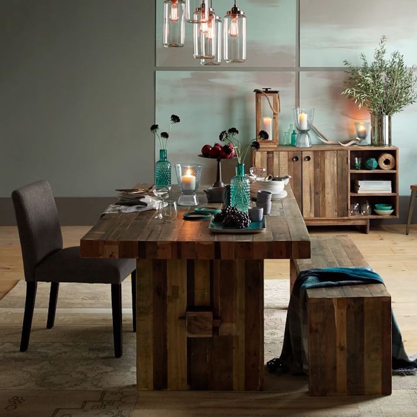 15 fabulous wood dining room sets that will inspire you for Dining room next to kitchen