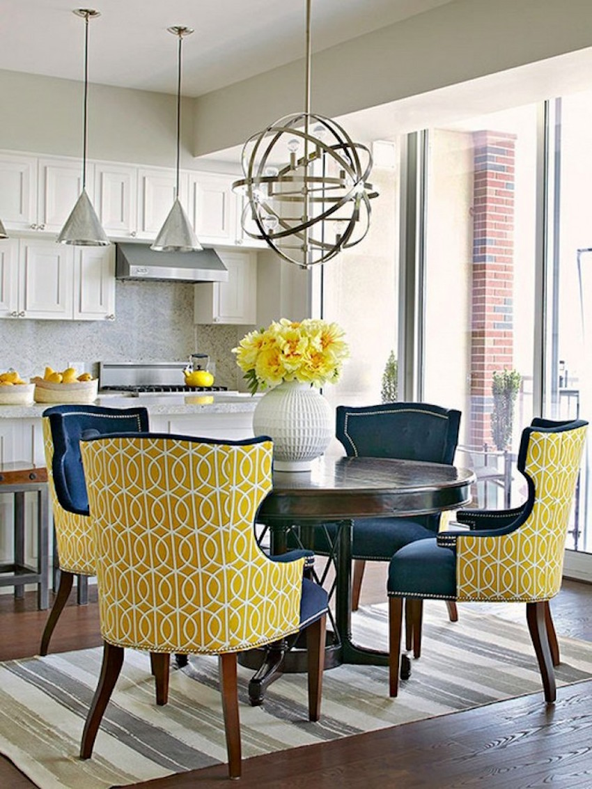 10 astonishing modern dining room sets for Dining table color ideas