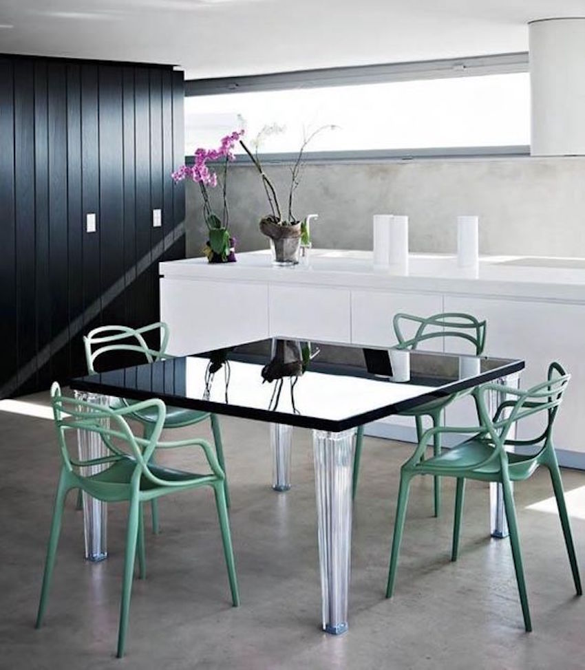 10 dining room ideas with modern dining chairs by philippe for Dining room seating ideas