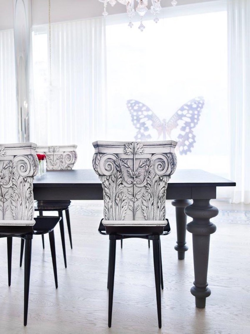 10 dining room ideas with modern dining chairs by philippe for Modern white dining room chairs