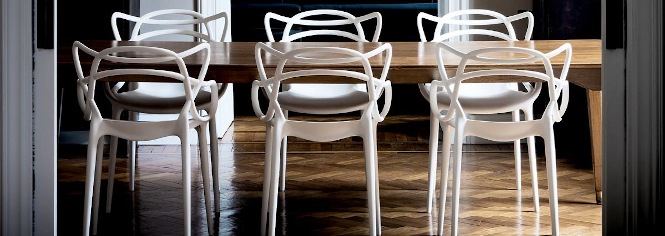 10 dining room ideas with modern dining chairs by philippe for Modern dining room 2016