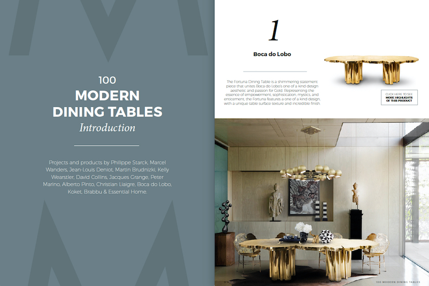 Get Inspired With the Free e-Book 100 Modern Dining Tables 1