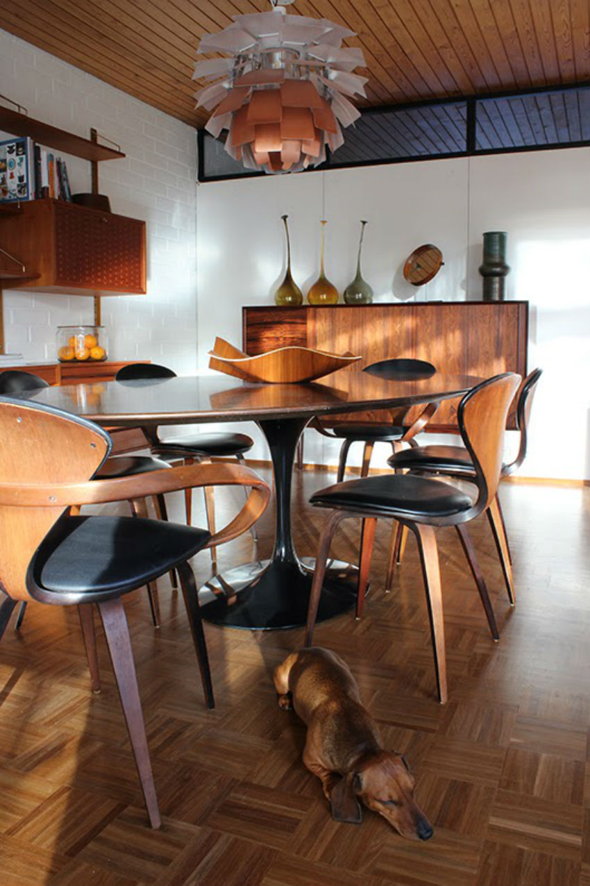 7 inspirational mid century modern dining room sets for Stylish dining table set