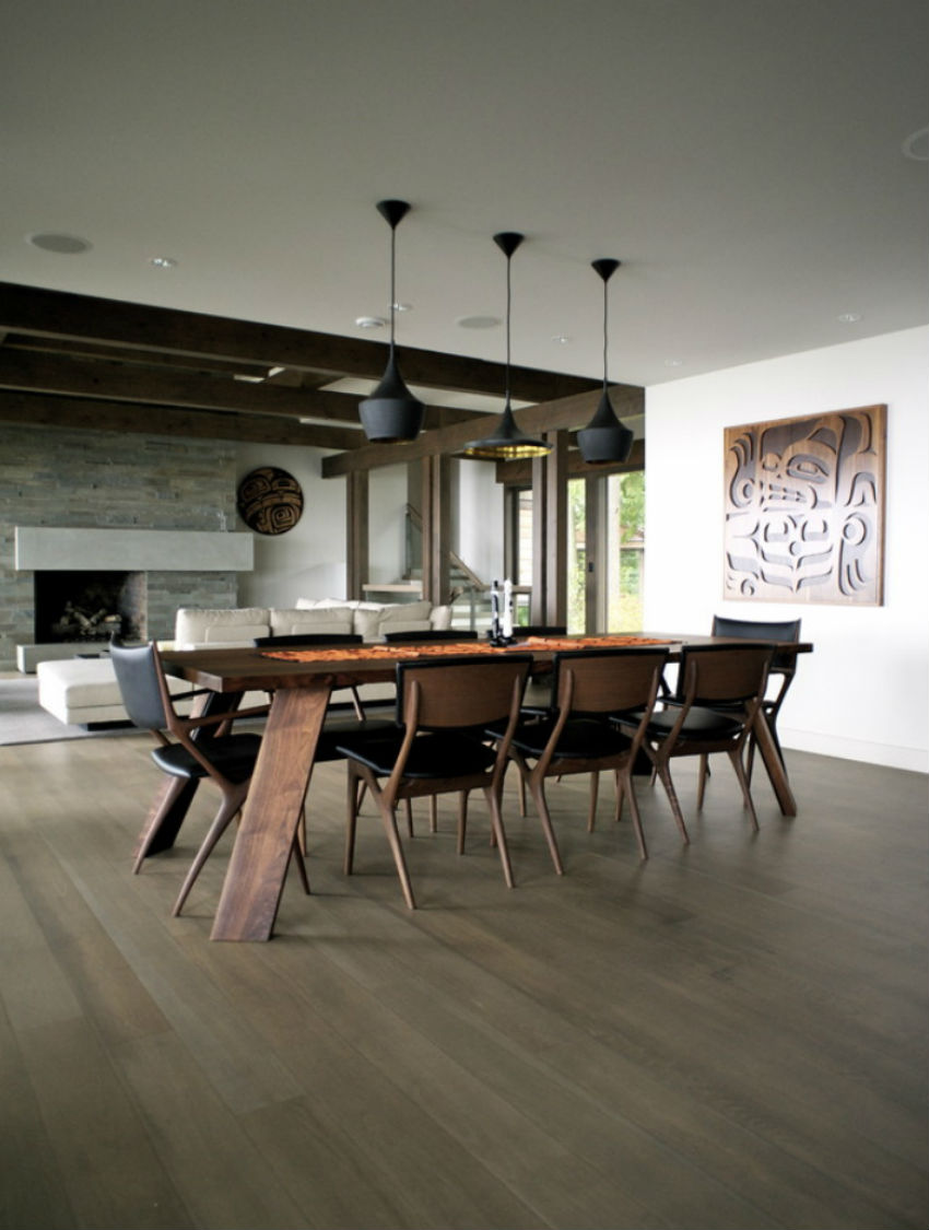 7 inspirational mid century modern dining room sets for Modern dining area ideas