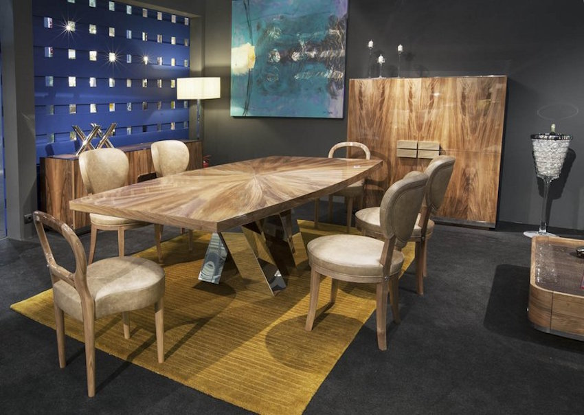 5 astonishing modern dining tables from salone del mobile 2016 for Dining room styles 2016