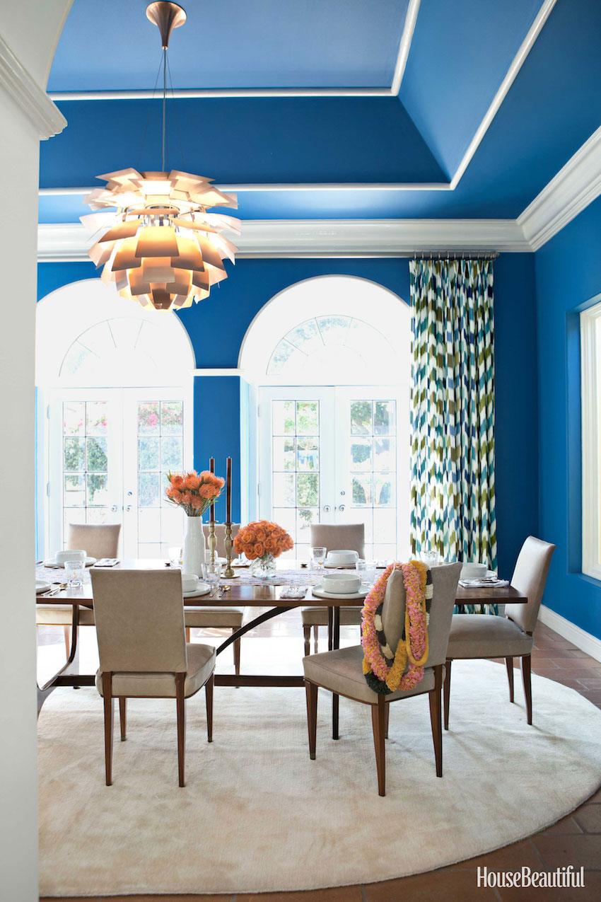 10 astonishing color scheme ideas for dining rooms that for Dining room ideas in blue