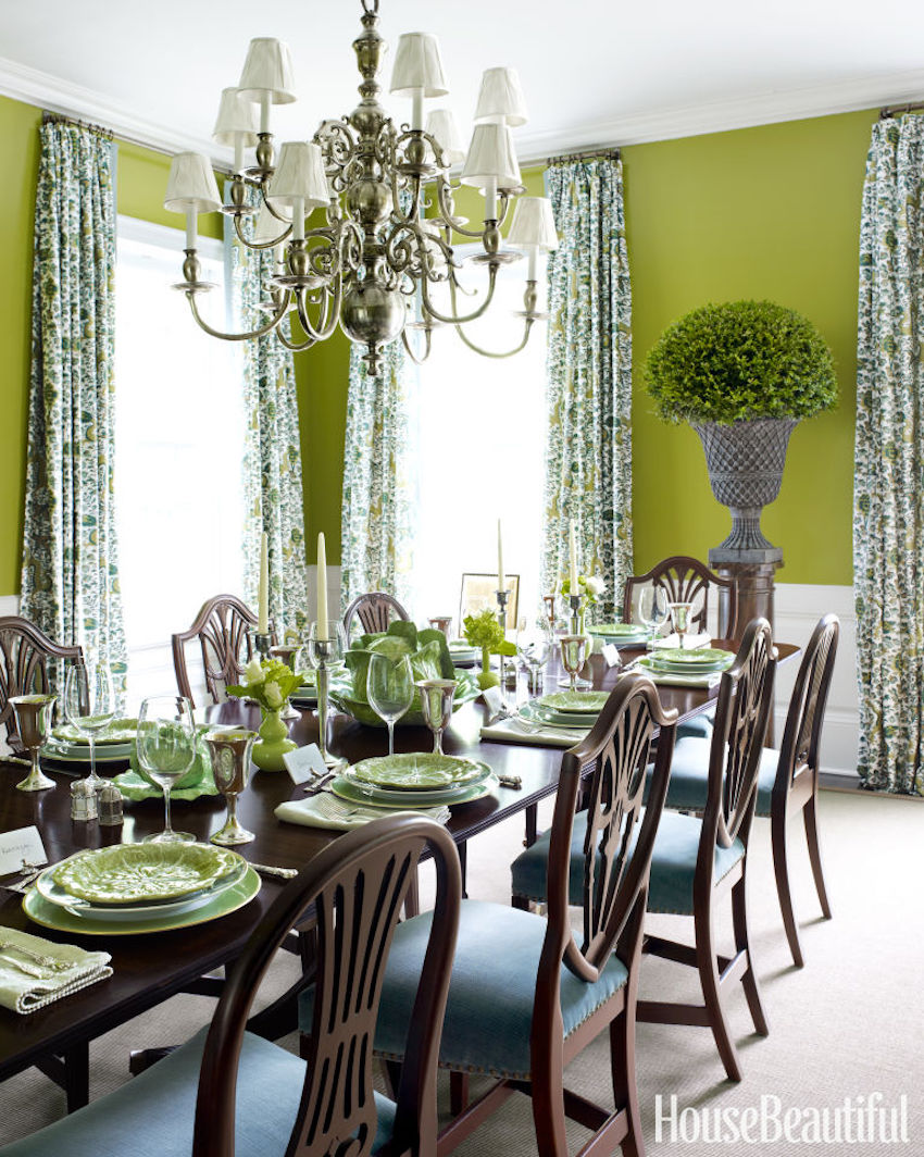 10 astonishing color scheme ideas for dining rooms that you will love - Green dining room furniture ideas ...
