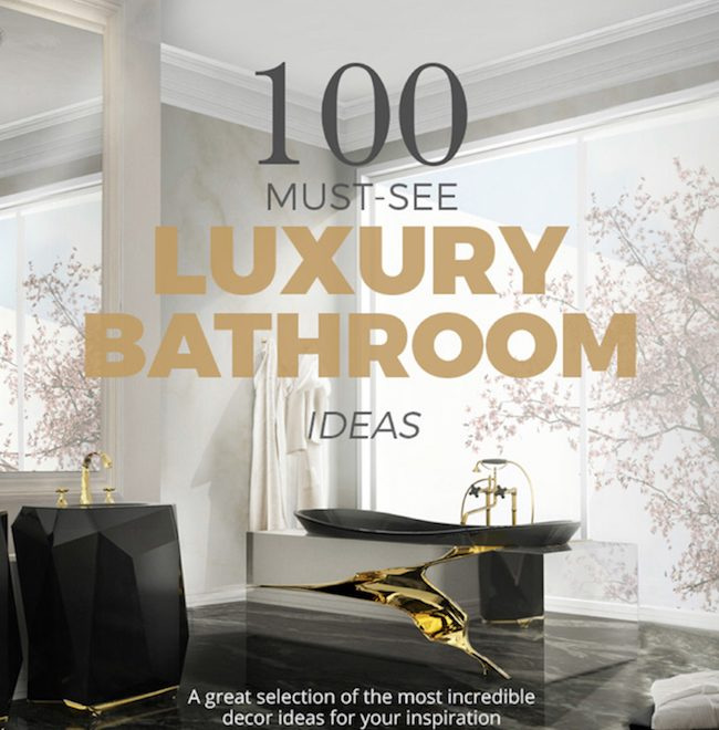 "Get Inspired With the Free e-Book ""100 Must-See Luxury Bathroom Ideas"" ➤To see more Luxury Bathroom ideas visit us at www.luxurybathrooms.eu #luxurybathrooms #homedecorideas #bathroomideas @BathroomsLuxury"