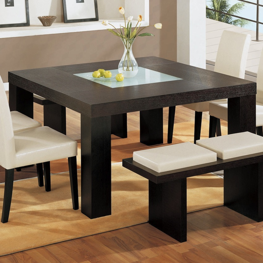 10 charming square dining table ideas to glam up your home for Dining table design 2016