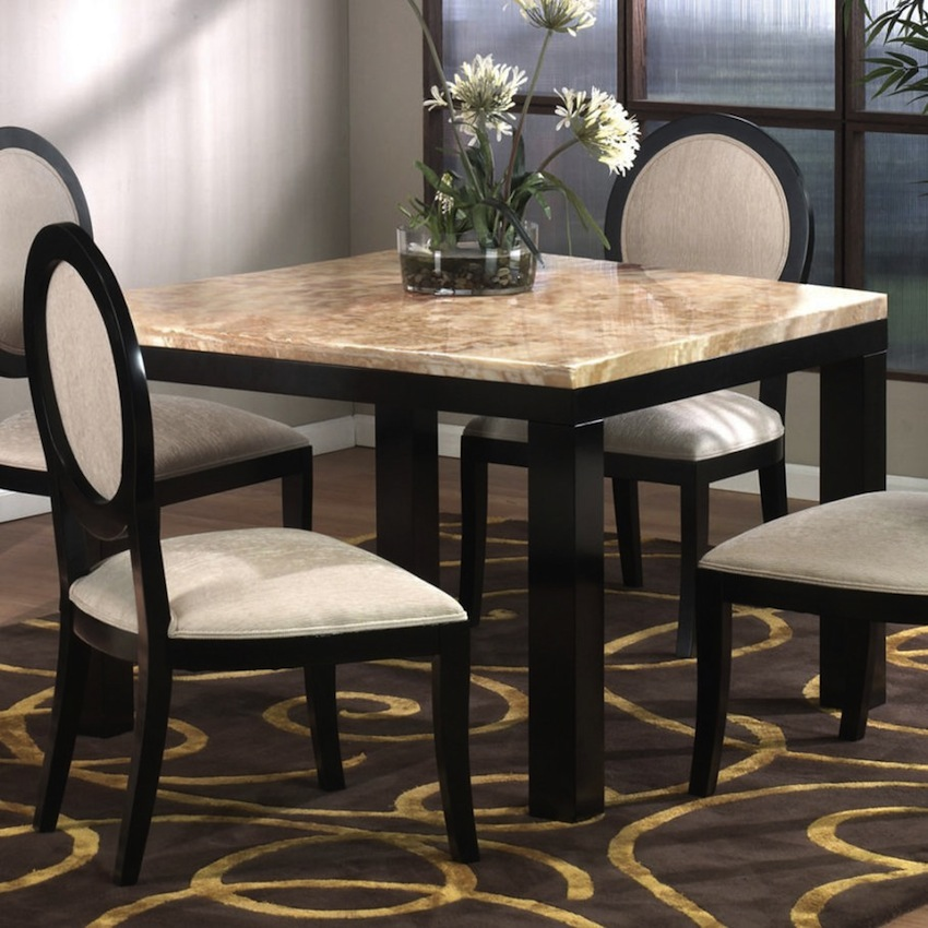 10 charming square dining table ideas to glam up your home for Small 4 person dining table