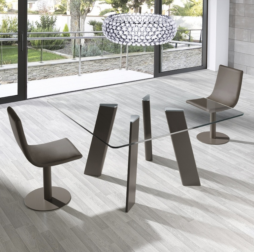 Square Glass Dining Tables Inside