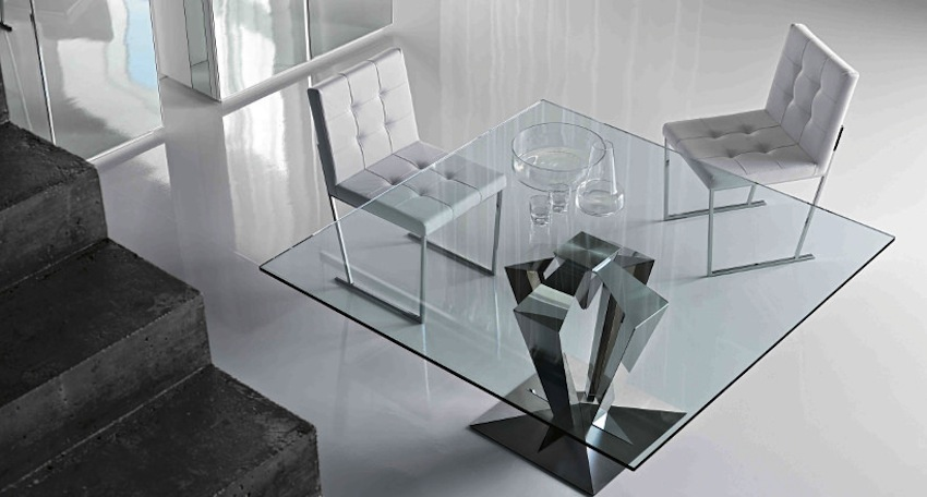 10 Shimmering Square Glass Dining Tables That Will Impress You ➤ Discover the season's newest designs and inspirations. Visit us at www.moderndiningtables.net #diningtables #homedecorideas #diningroomideas @ModDiningTables