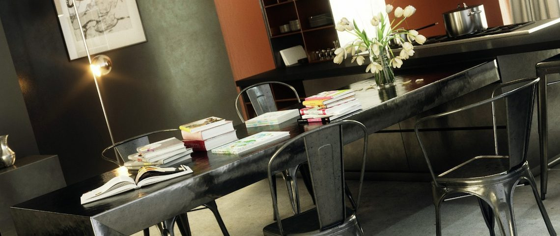 7 Modern Dining Room Sets With Stunning Metal Dining Tables ➤ Discover the season's newest designs and inspirations. Visit us at www.moderndiningtables.net #diningtables #homedecorideas #diningroomideas @ModDiningTables