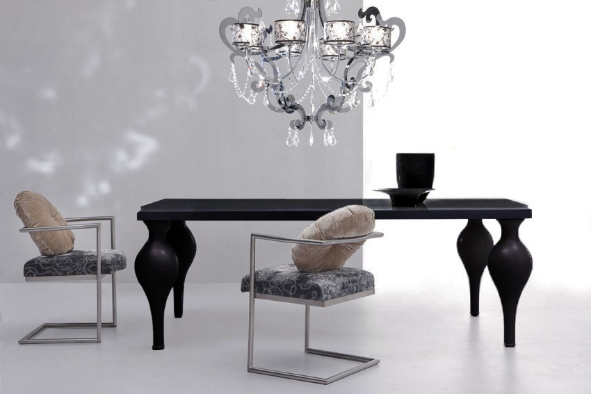 Black Dining Tables That Will Make You Host a Dinner ➤ Discover the season's newest designs and inspirations. Visit us at www.moderndiningtables.net #diningtables #homedecorideas #diningroomideas @ModDiningTables black dining tables Black Dining Tables That Will Make You Host a Dinner Black Modern Dining Tables That Will Make You Host a Dinner 1