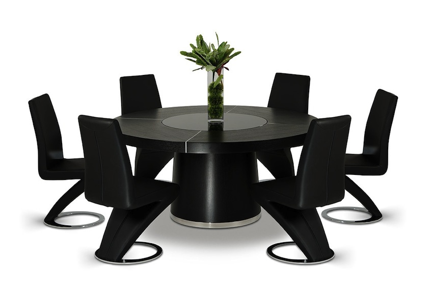 Black Dining Tables That Will Make You Host a Dinner ➤ Discover the season's newest designs and inspirations. Visit us at www.moderndiningtables.net #diningtables #homedecorideas #diningroomideas @ModDiningTables