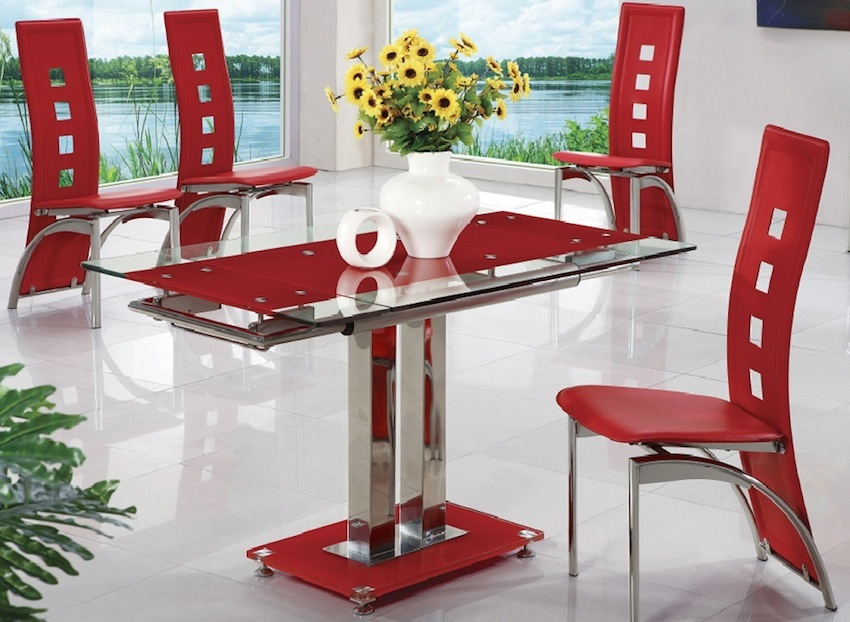 How to Create a Sensational Dining Room with Red Accents ➤ Discover the season's newest designs and inspirations. Visit us at www.moderndiningtables.net #diningtables #homedecorideas #diningroomideas @ModDiningTables dining room with red accents How to Create a Sensational Dining Room with Red Accents How to Create a Sensational Dining Room with Red Details 5