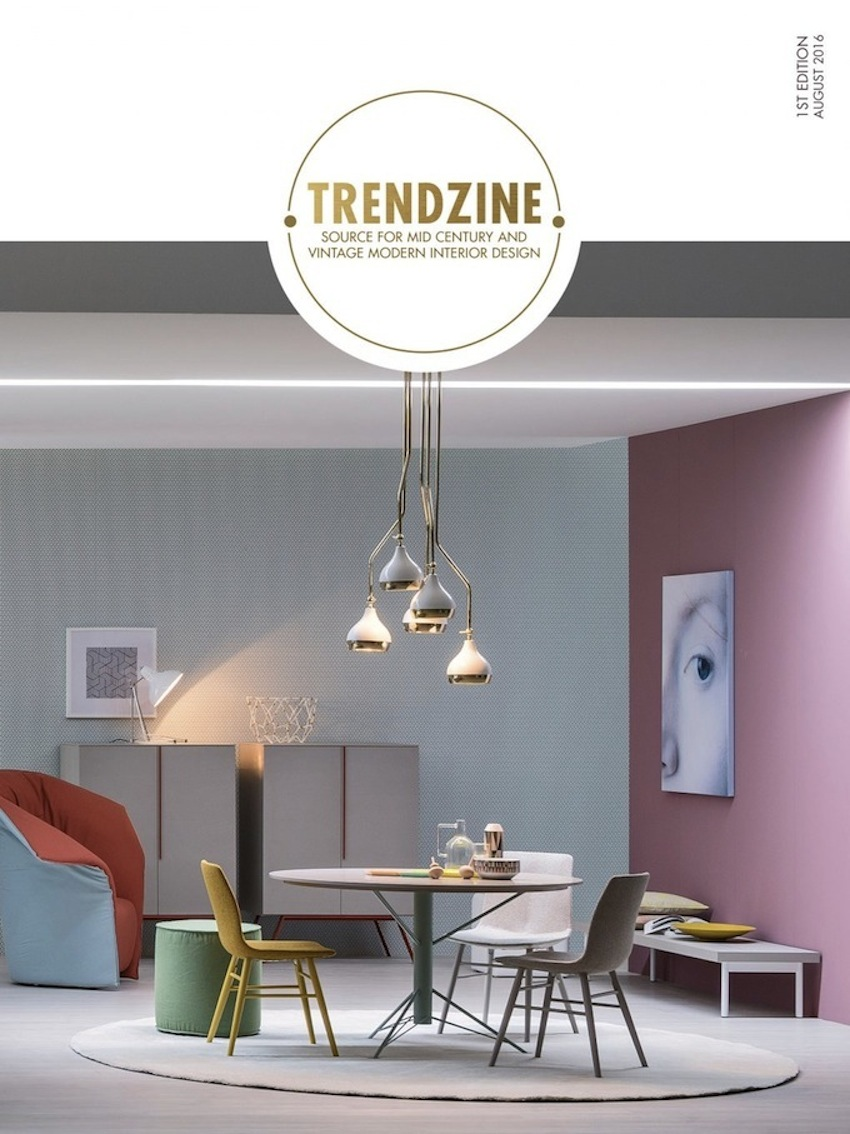 TRENDZINE: a e-Zine Obsessed With Mid-century Modern Design ➤ Discover the season's newest designs and inspirations. Visit us at www.moderndiningtables.net #diningtables #homedecorideas #diningroomideas @ModDiningTables