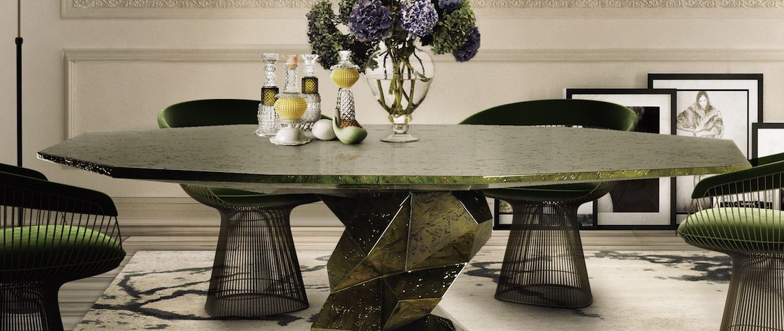 Pamper Your Home With These Stunning Modern Dining Tables ➤ Discover the season's newest designs and inspirations. Visit us at www.moderndiningtables.net #diningtables #homedecorideas #diningroomideas @ModDiningTables
