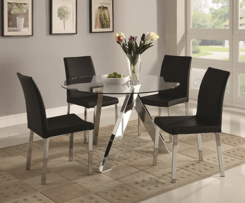 glass dining table ikea canada round uk sleek ideas that make stylish impression oak tables