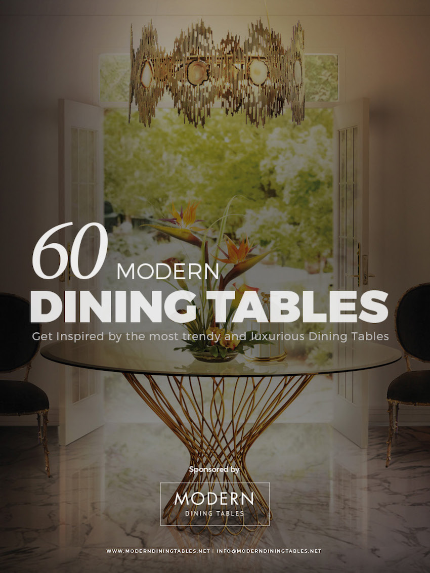Free eBook - Get Inspired with these 60 Modern Dining Tables Ideas ➤ Discover the season's newest designs and inspirations. Visit us at www.moderndiningtables.net #diningtables #homedecorideas #diningroomideas @ModDiningTables