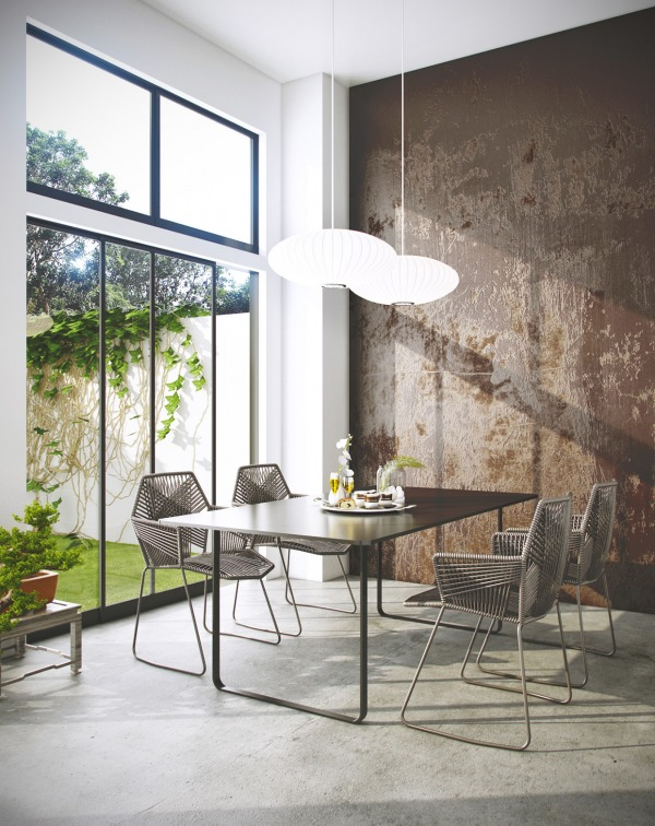 modern dining modern dining Modern Dining - Keeping it Simple A dining room doesn   t have to have space for an army to be beautiful and elegant This four person table is perfect for a small family while orb like light fixtures give it a bit of whimsy