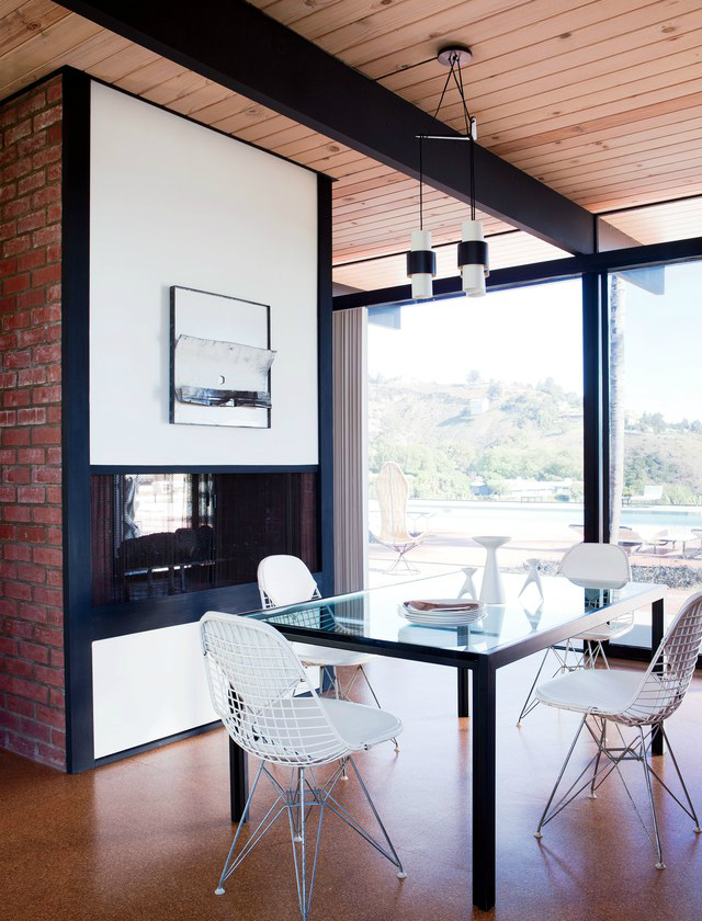 midcentury midcentury Midcentury-Modern Dining Rooms At a Malibu California h