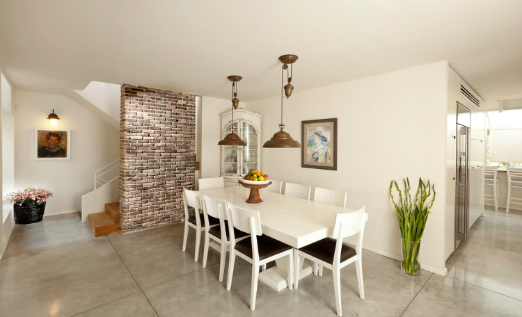 contemporary-dining-area-with-an-airy-refreshing-and-cozy-decor11 white dining table White Dining Tables For an Elegant Dining Room Contemporary dining area with an airy refreshing and cozy de  cor11